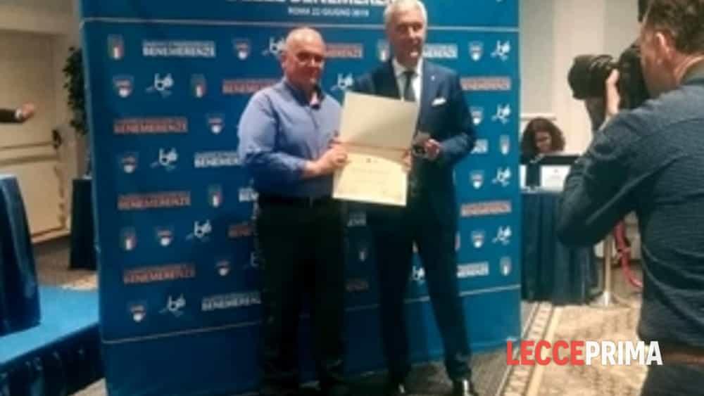 consegnata la stella al merito sportivo al dirigente della a.s.d. sanarica-2