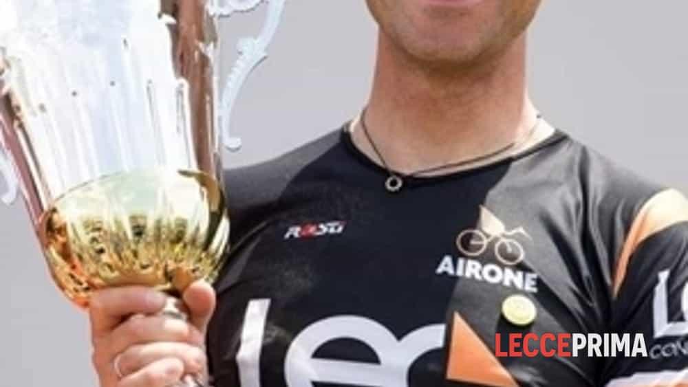 il salentino stefano ciccarese sul podio della gf vincenzo nibali -2