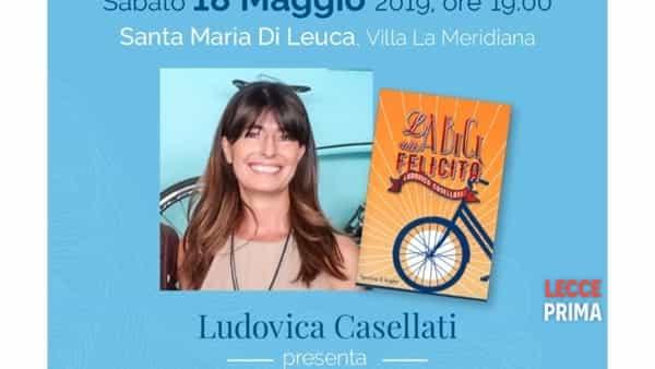 """Ludovica Casellati a Leuca con """"La bici della felicità"""""""
