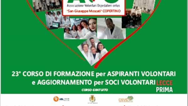Corso di formazione per aspiranti volontari ospedalieri