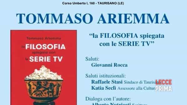 """""""La filosofia spiegata con le serie tv"""": il libro di Ariemma"""