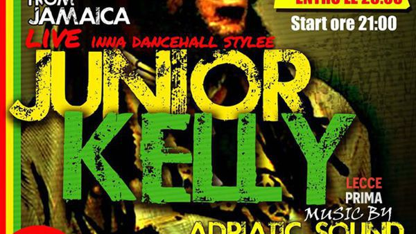 Reggae summer fest with Junior Kelly