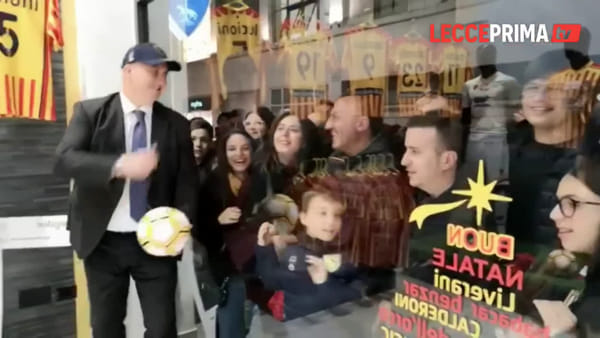 """""""Lecce Store, un sogno realizzato"""". Per l'inaugurazione assalto dei tifosi"""