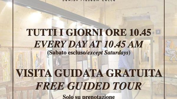 Visite gratuite al Museo Ebraico di Lecce