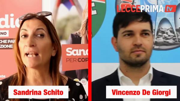 Video | Copertino al ballottaggio, intervista doppia a Schito e De Giorgi