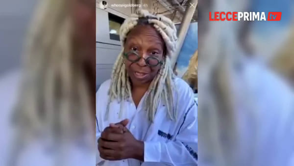 Video | Whoopi Goldberg nel Salento: da Hollywood verso il mare cristallino