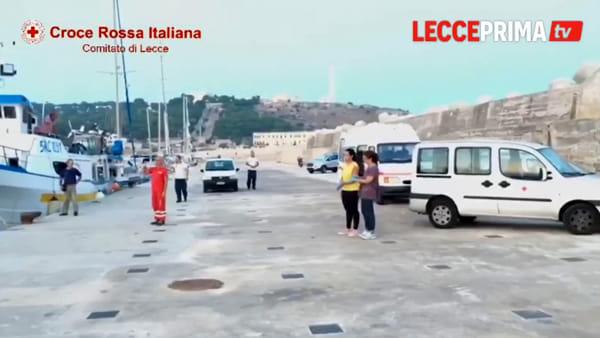 Video | Santa Maria di Leuca, intere famiglie di migranti salvate in mare aperto