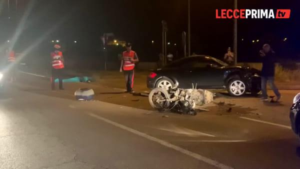 Video | Sul luogo del tragico impatto alla periferia di Melendugno