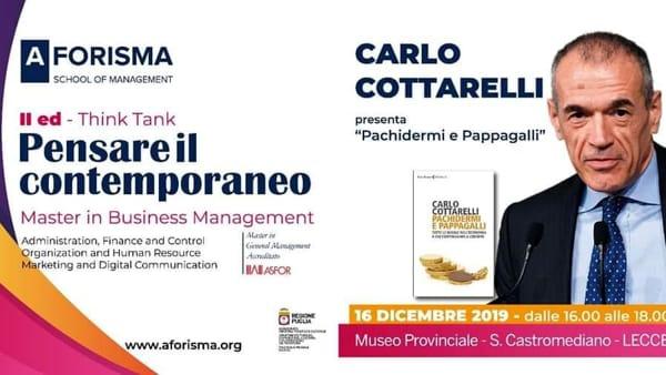 Carlo Cottarelli ospite d'eccezione di Aforisma