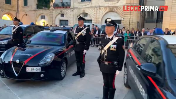 Video | La piazza Duomo di Lecce ospita i carabinieri per i loro 205 anni