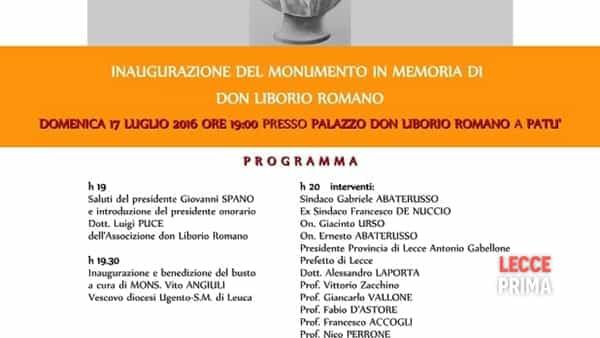 Inaugurazione del monumento a don Liborio Romano