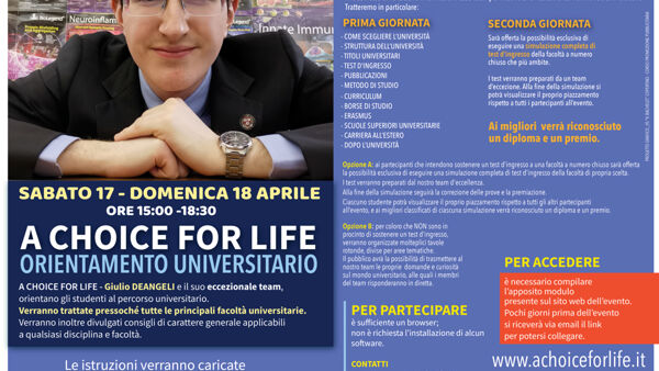 A choice for life: una scelta per la vita