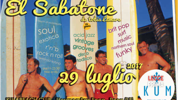 El Sabatone de Tobia Lamare al Kum beach club