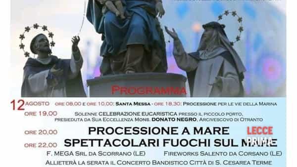 a castro la festa della madonna di pompei, in processione nella baia -3