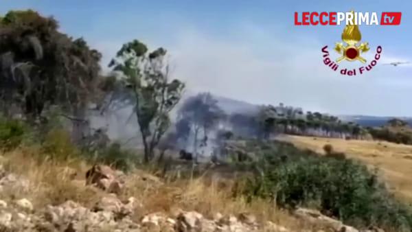 Video | Montagna Spaccata, il vento spinge le fiamme: i mezzi aerei in azione
