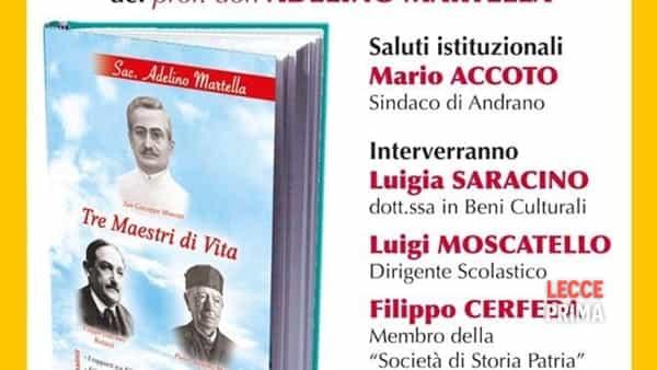 Tre maestri di vita: presentazione del libro di Don Adelino Martella
