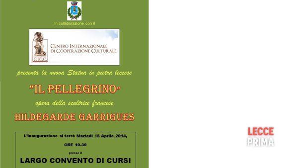 """Inaugurazione della statua """"Il pellegrino"""" di Hildegarde Garrigues"""