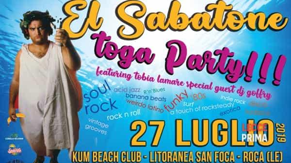 El Sabatone al Kum di Roca: speciale toga party