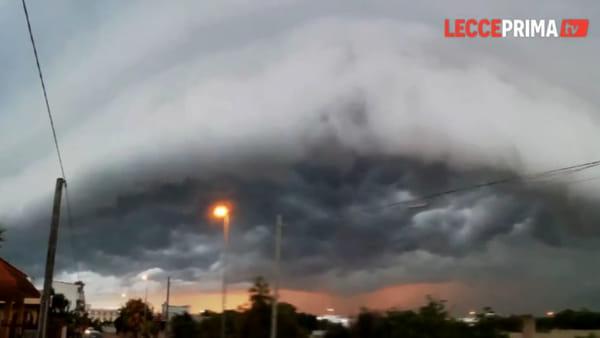 Video | Nuvole minacciose all'orizzonte: il maltempo colpisce anche il Salento