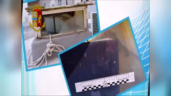 Video | Maxi furto nel centro scommesse: così ha agito la banda del buco