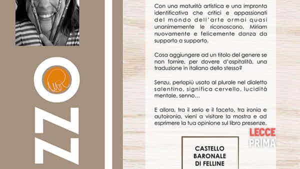 """""""Senza senzi…"""" personale pittorica di Miriam Rizzo curata da Enrico Federico"""