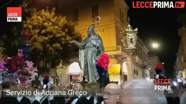 Solenne processione in onore di Sant'Oronzo, Giusto e Fortunato