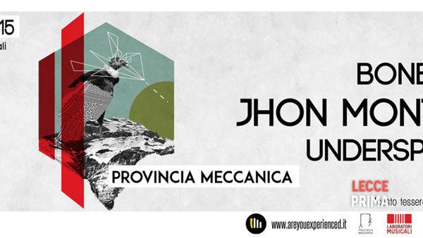 Provincia Meccanica, Bonbooze|Montoya|underspreche_@Laboratori musicali di Trepuzzi