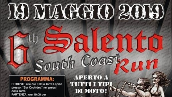 Salento South Coast Run: tutti in sella alle moto per beneficenza