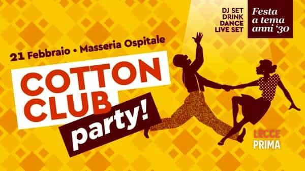 Cotton club party: festa di carnevale