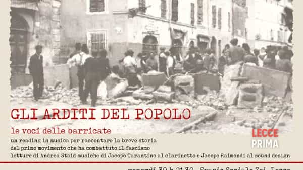 """Gli arditi del popolo"": reading musicale antifascista"