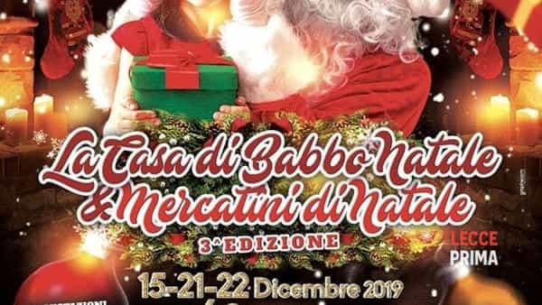 La casa di Babbo Natale e mercatini di Natale
