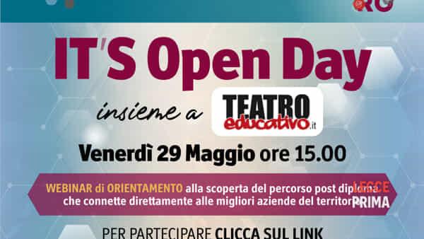 It's open day: il primo webinar di orientamento