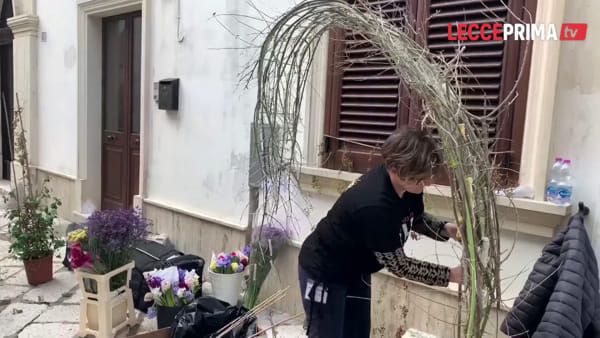 Video | Il centro storico di Leverano si trasforma in un giardino colorato