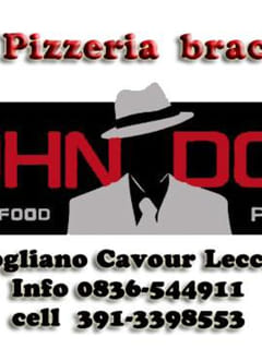 John Doe beer food and pizza